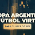 Se abre la inscripción para la eCopa Argentina de fútbol virtual