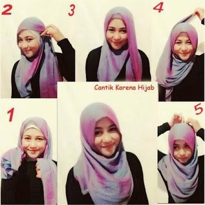Cara memakai hijab untuk wajah bulat dan lebar