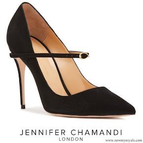 Meghan Markle wore Jennifer Chamandi Lorenzo suede pumps