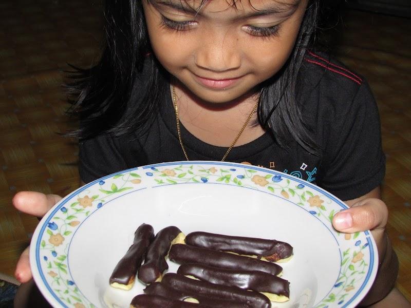 Chocolate Eclair yang mudah