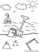 Gambar Mewarnai Pemandangan Pantai : gambar, mewarnai, pemandangan, pantai, Gambar, Mewarnai, Pemandangan, Pantai, Membangun, Istana, Pasir, Berlibur, Kepantai, Rebanas