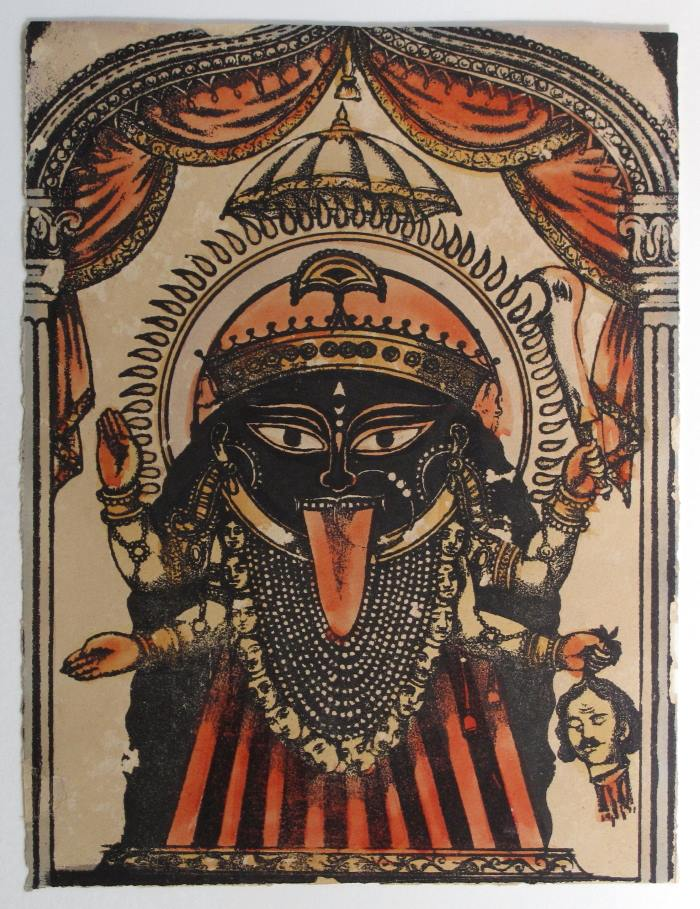 Kali, Lithograph with Hand Coloring - c1875-1880