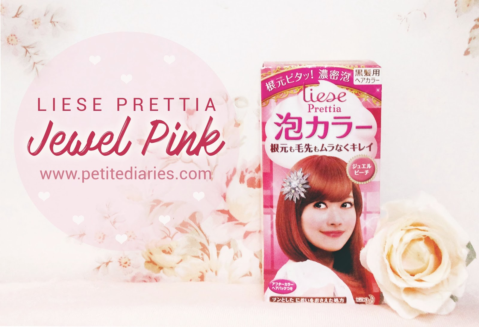 review liese prettia jewel pink hair bubble color