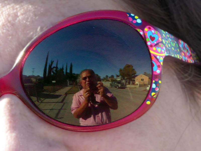 David Ocker's selfie taken in his cousin Judy's sunglasses