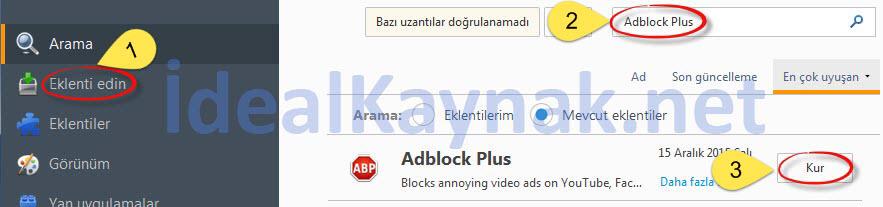 Adblock Plus ile Tarayıcıda Reklam Engelleme