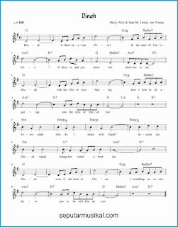 chord dinah lagu jazz standar