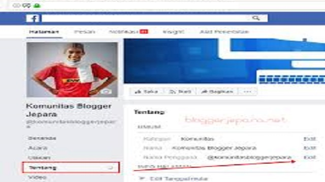 Cara Ganti Nama Halaman Facebook