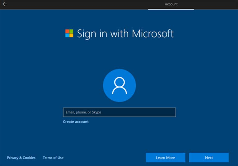 Cara Membuat Local Account Saat Menyiapkan Windows 10