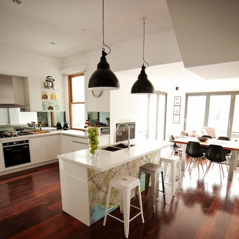 Spectacular Kitchen Family Room Renovation In Leesburg: The Block 2014 & Those Pendant Lights!