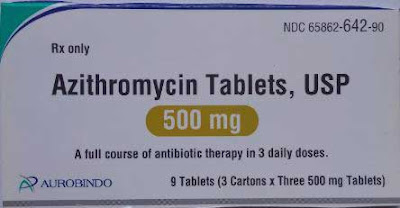 Azithromycin tablets 500 mg by aurobindo pharma