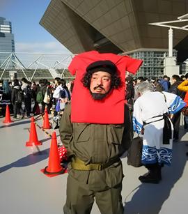 la imagen del Ernesto el Che guevara como producto de Masas y moda de playeras