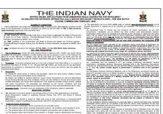 Indian Navy Sailor ( AA & SSR) - Online Apply