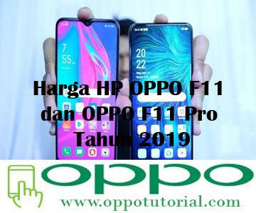 Harga HP OPPO F11 dan OPPO F11 Pro Tahun 2019