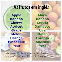 As frutas em inglês, Inglês, Vocabulário em Inglês, Inglês para Brasileiros, Aprender Inglês,