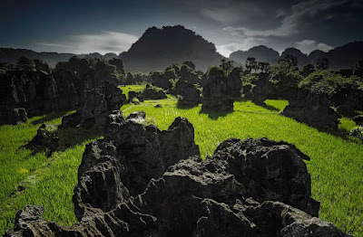 spot foto pemandangan batu karst rammang-rammang maros wisata di makassar