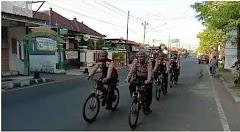 Jaga Keamanan Dan Ketertiban Masyarakat, Sabhara Polres Batang Giatkan Patroli Sepeda
