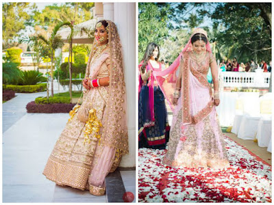 It is very hard to choose among these two blush pink bridal dress.