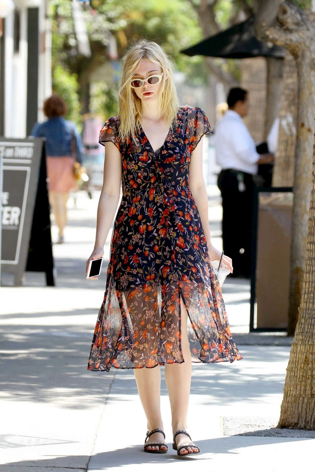 HQ Photos of Elle Fanning out in Studio City