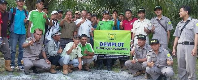 demplot produk nasa untuk sawit