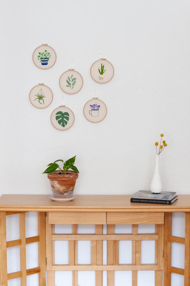 colección de bordados inspirados en las plantas de miss katiuska