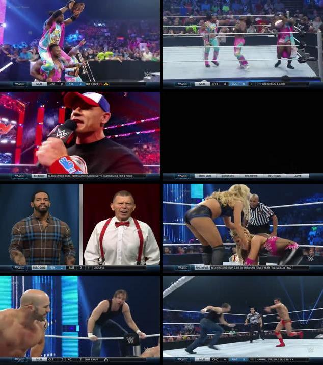 WWE Thursday Night Smackdown 16 June 2016 HDTV 480p