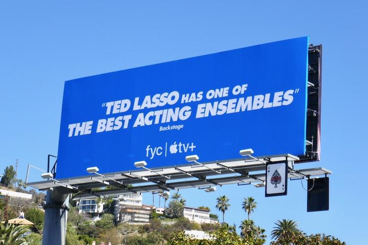 Ted Lasso ensemble SAG nominee billboard