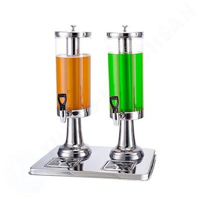 Bình đựng nước hoa quả buffet có vòi 6 lít 2 ngăn BC2222-2