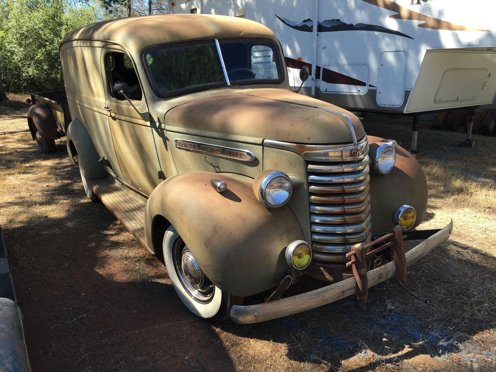 Nostalgia On Wheels 1940 1 2 Ton Gmc Panel Truck 1949 Dodge Van