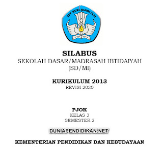 Silabus PJOK Kelas 3 SD/MI Semester 2 K13 Revisi 2021