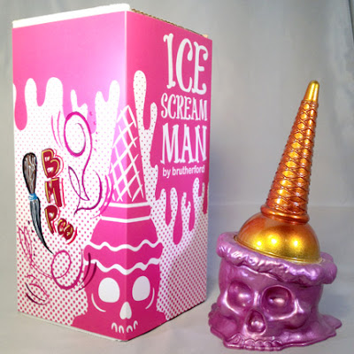 "Brutherford Industries x Brown Magic Paint Company ""Stainless Steel Strawberry"" Metallic Ice Scream Man"