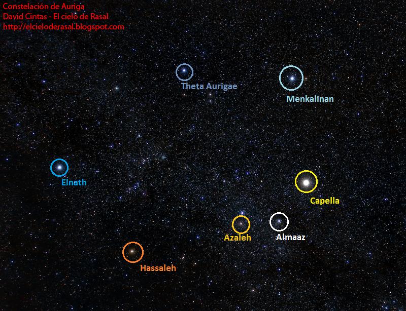 Auriga estrellas constelacion - El cielo de Rasal