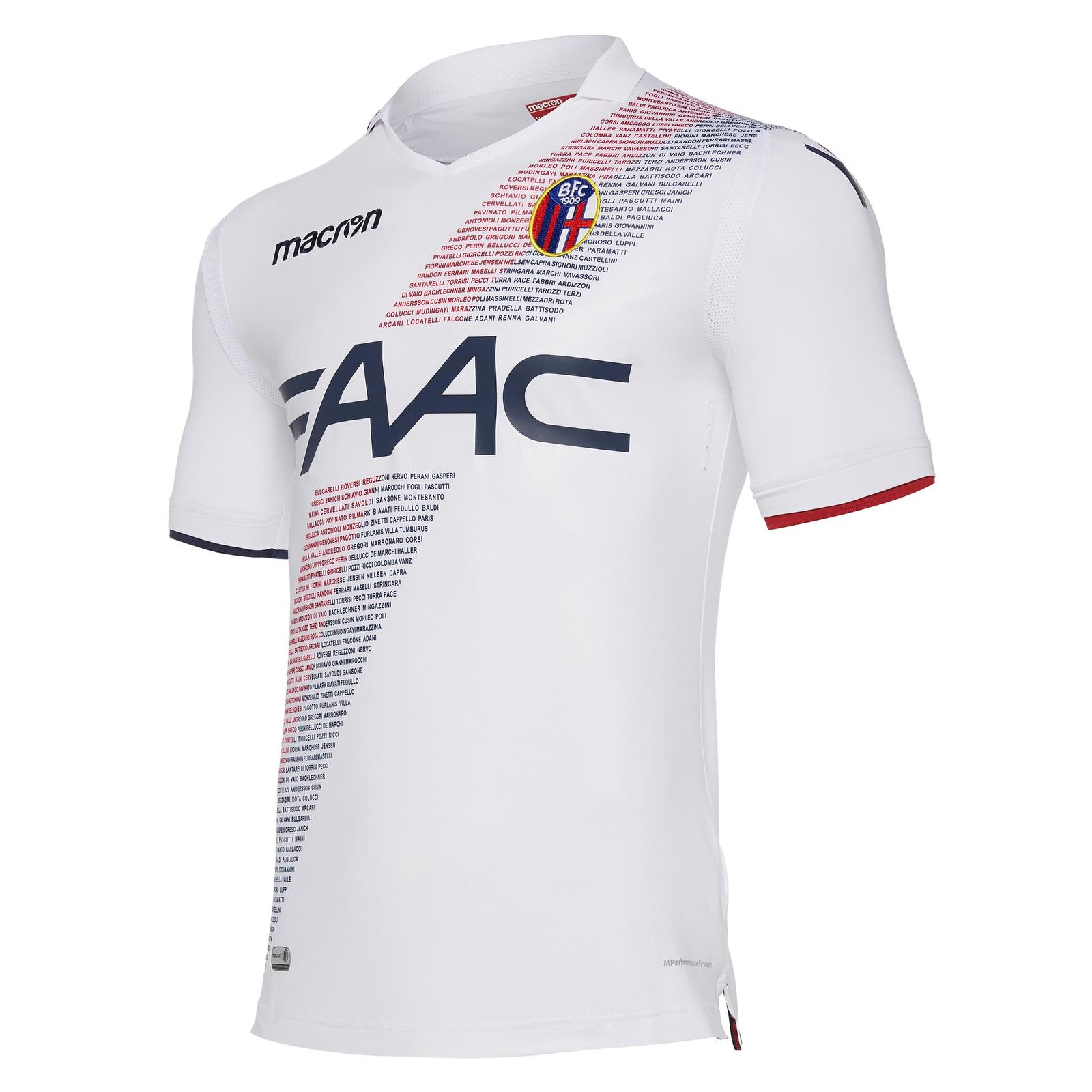 87c874f9ff1 This image shows the macron Bologna 2017-18 away shirt.