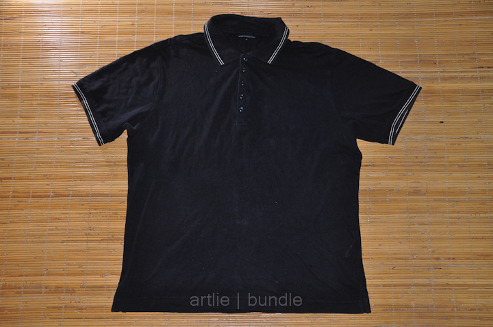 65b0f529 Vintage | Branded | Clothing: (BS1-0390) UNIQLO Ringer Black Polo Tee XL