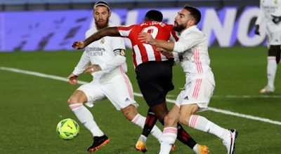 Athletic Bilbao match against Real Madrid in the Spanish Cup 2021
