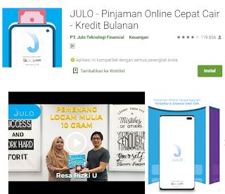 Julo Pinjaman Online Cepat Cair Kredit Bulanan Pinjaman Online