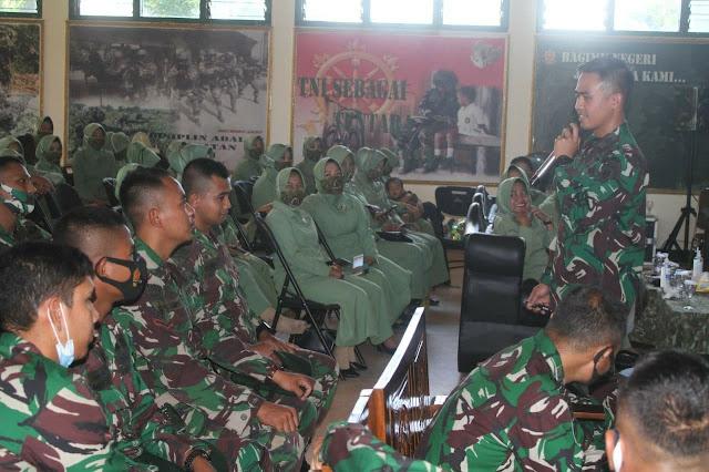 Kembali Berikan Penyuluhan Hukum, Kini Hukum Divisi Infanteri 2 Kostrad Keliling Satuan Jajaran Brigif Mekanis Raider 6/TSB