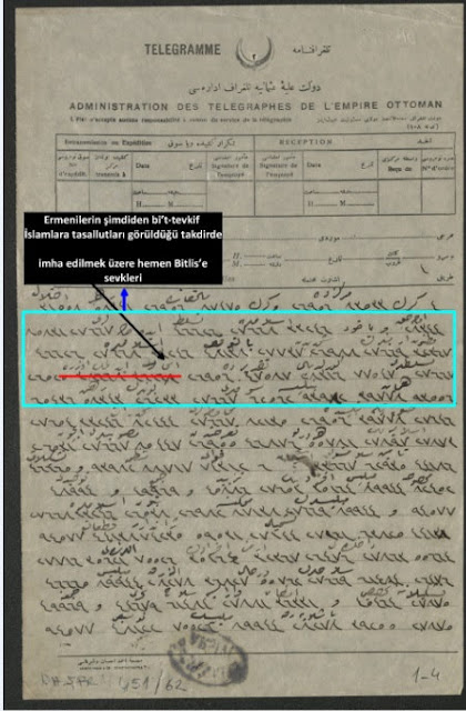 """La decisión, fechada el 1 de diciembre de 1914, fue adoptada por el Comité Central de Erzurum y enviada a Estambul """"en secreto"""" el mismo día."""