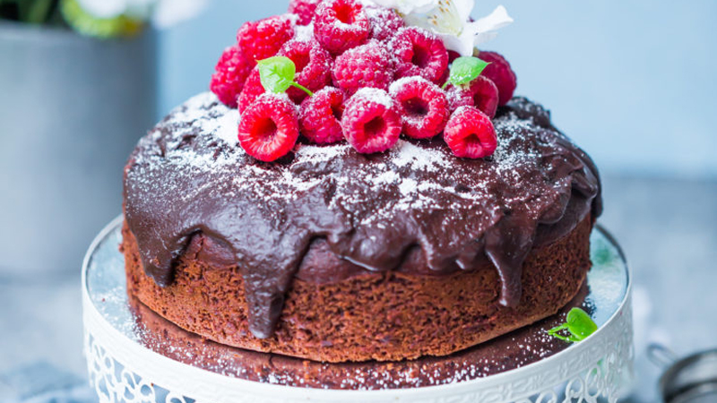Eggless Chocolate and Coconut Cake
