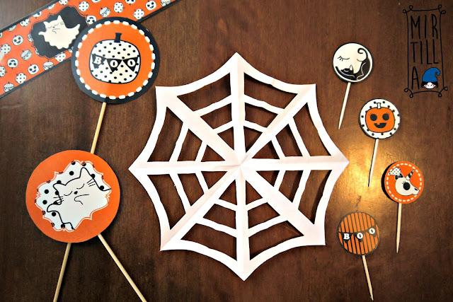 Ragnatela di carta fai da te per decorazione Halloween