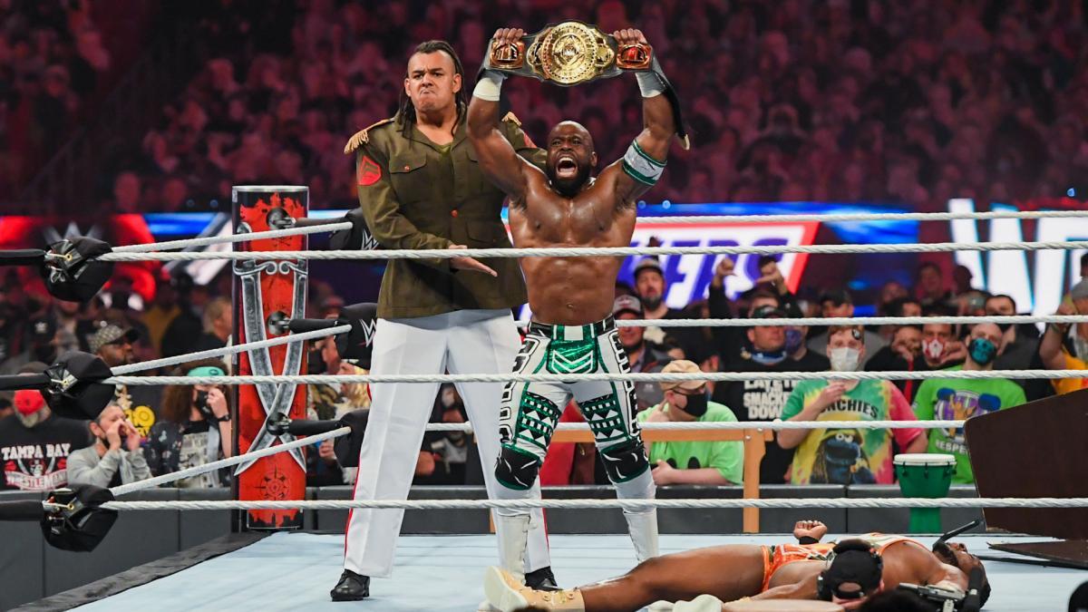Dabba Kato and Apollo Crews on WWE WrestleMania 37