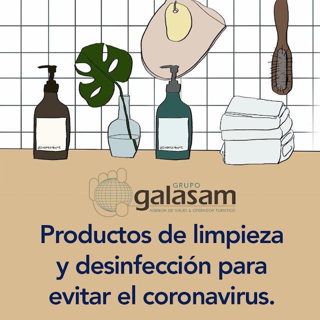 Productos de limpieza y desinfección para evitar el Coronavirus