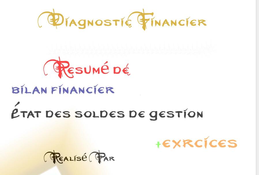 resume diagnostic financier   exercices