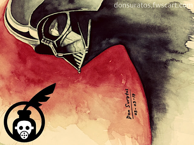 Darth Vader Watercolor Painting Photo