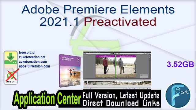 Adobe Premiere Elements 2021.1 Preactivated