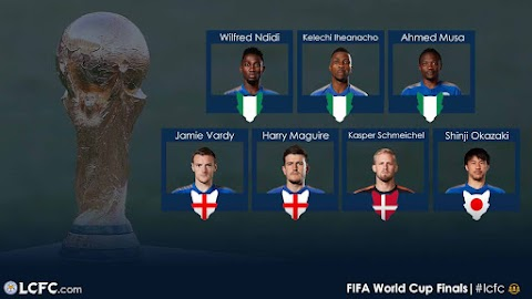Leicester Celebrate Ndidi, Musa, Iheanacho, Vardy Others Over World Cup Tickets