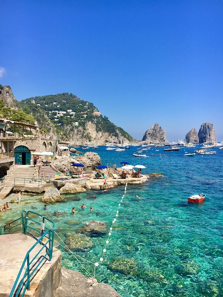 The best swimming pool in Capri - La Canzone del Mare