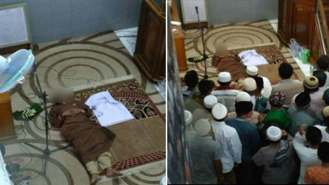 Innalillahi, Imam Masjid Meninggal Dunia Dipelukan Makmum Saat Shalat Jumat Masih Berlangsung, Semoga Husnul Khotimah Ustadz