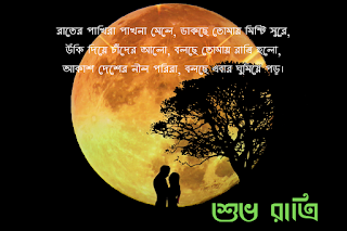 good night images with quotes in bengali