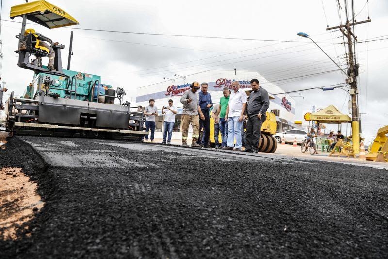 Governo Nélio inicia a pavimentação do anel viário do bairro de Santarenzinho