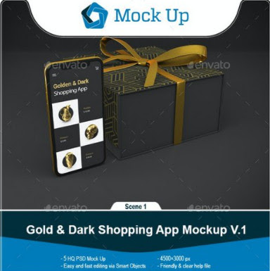Templates – GraphicRiver – Gold & Dark Shopping App V.1 Mockup – 28759713 [PSD] – 28759713 [PSD]